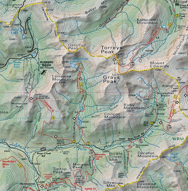 Colorado County Borders