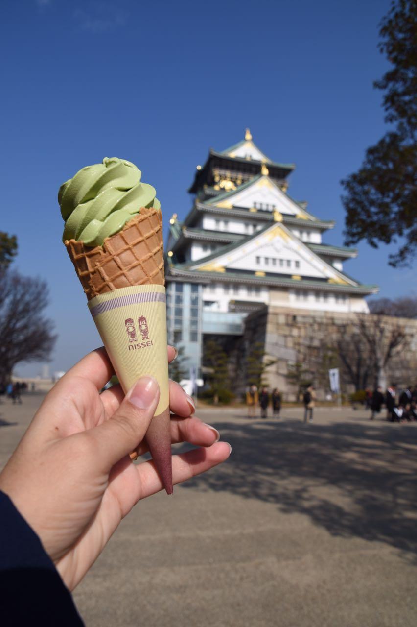 o castelo de Osaka e como ele é