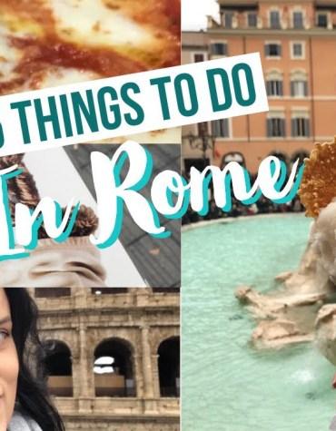 5 melhores coisas para fazer/conhecer em Roma