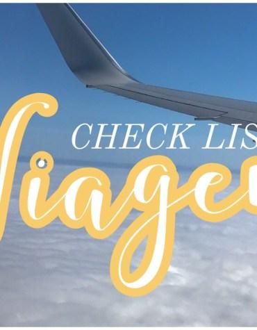 Check List: mala de viagem