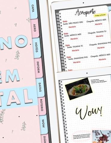 Caderno de Viagem Digital: Arquivo em PDF para Goodnotes
