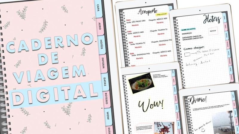 caderno de viagem digital e como montá-lo sozinho