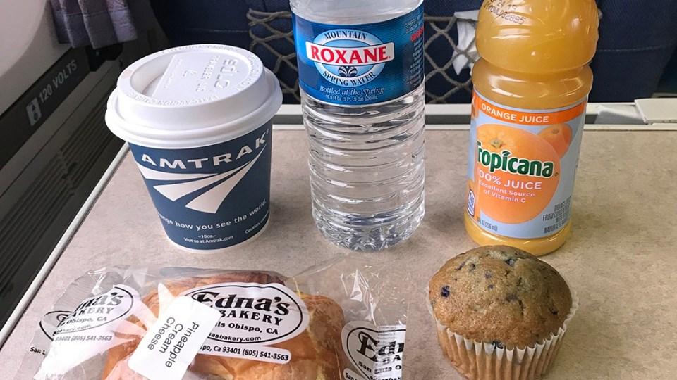 Comidas viagem de trem nos estados unidos. Amtrak los angeles