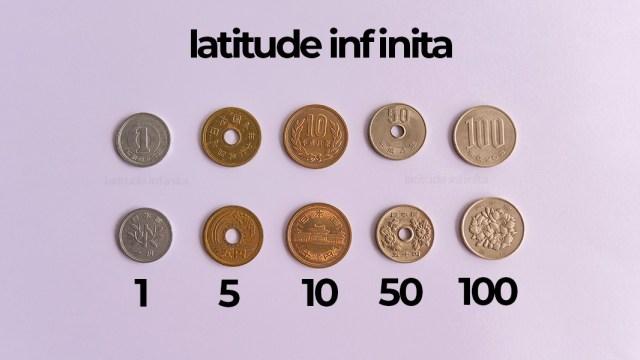 moedas do japão. ienes
