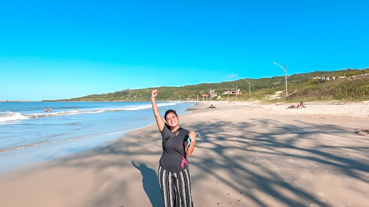praia de cima - praia da pinheira