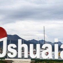 scritta natalizia a Ushuaia