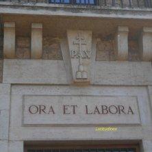 motto benedettino a Subiaco