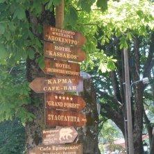 indicazioni in legno