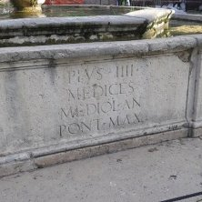 iscrizione fontana