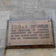 targa in memoria dell'incoronazione di re Edgar