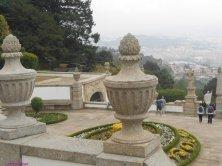 scalinata e giardini dall'alto