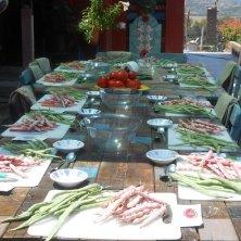 tavola per la scuola di cucina