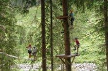 Hochseilpark in Saalbach Hinterglemm/Talschluss mit lŠngster Seilrutsche Europas Foto: Foto Ronacher, Viehhofen
