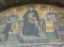 mosaico Madonna con Giustiano e Costantino