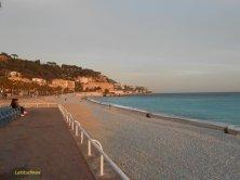 spiaggia di Nizza in inverno