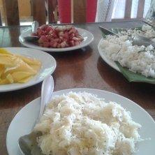 insalate di cocco e papaya