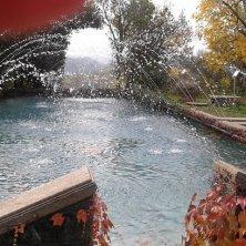fontana vasca in funzione