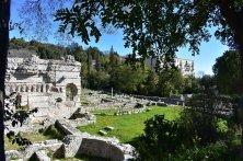 rovine romane sulla collina
