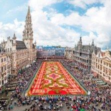 Grand Place con i fiori