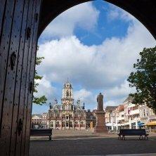 facade of Delft's Town Hall