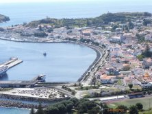 il porto visto dall'alto