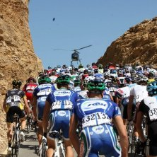 Events - Helicopter and the cyclists, Oman