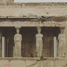 copie delle Cariatidi sull'Acropoli