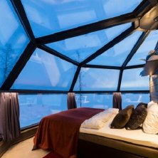 interno camera Artic Igloo Hotel