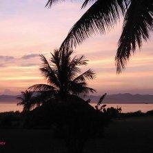tramonto fiume Bagan