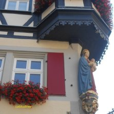Madonna su un palazzo a Rothenburg