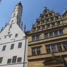 palazzi del centro di Rothenburg