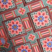 decori tipici sul soffitto a Bulguksa