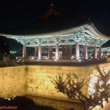 palazzo sull'acqua a Gyeongju