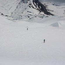 in Alaska con gli sci