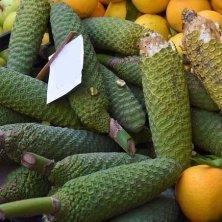 Monstera or pineapple-banana on market in ;adeira