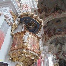 interno barocco bavarese chiesa Abbazia di Novacella