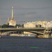 panorama Ammiragliato al tramonto San Pietroburgo