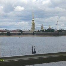 panorama sulla Fortezza di SS Pietro e Paolo dall'Ermitage