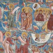 particolare dell'affresco monastero Moldovita Bucovina