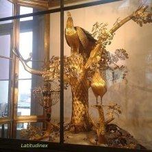 pavone e l'orologio all'Ermitage