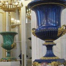 vasi in lapislazzuli e malachite all'Ermitage