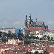Castello di Praga visto dalla torre dell'Orologio