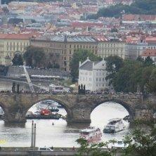 Ponte Carlo visto dal parco Letna Praga