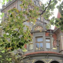 decori art nouveau nel quartiere ebraico Praga