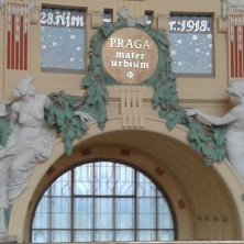 interno art nouveau stazione Praga
