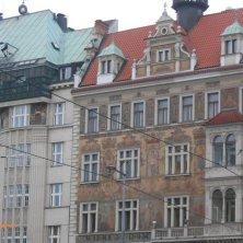 palazzi art nouveau piazza San Venceslao Praga