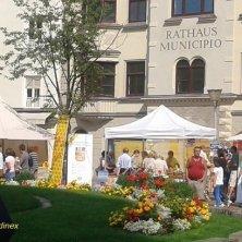 stand in piazza duomo Bressanone