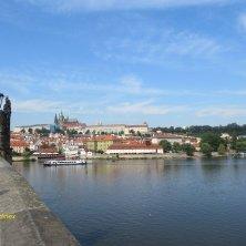 sul Ponte Carlo a Praga