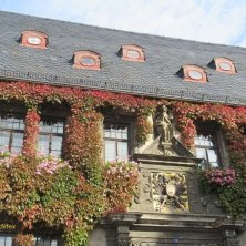 Municipio medievale in autunno a Quedlinburg