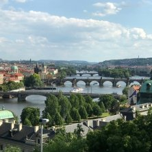 View from Letna Park at the Vltava River